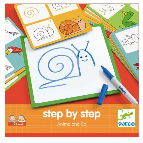 Step by step tegneleg - Animo og Co - Djeco
