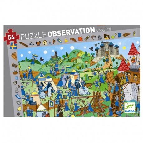 Riddere - Observations puslespil - Djeco