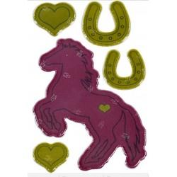 Pony, hestesko og hjerter - Refleks mærker - Die Spiegelburg
