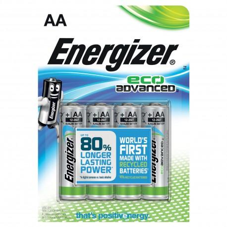 4 stk. Energizer Batteri - AA