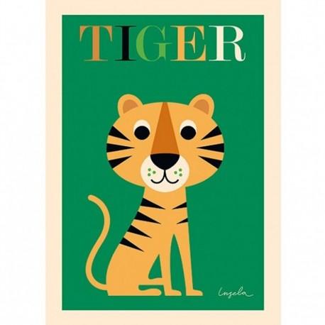 Tiger kort - Lille - Ingela P. Arrhenius