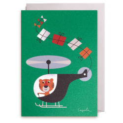 Tiger i helikopter kort - Ingela P. Arrhenius