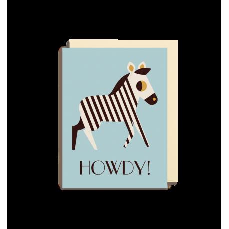 Howdy Zebra kort - Lille - Ingela P. Arrhenius