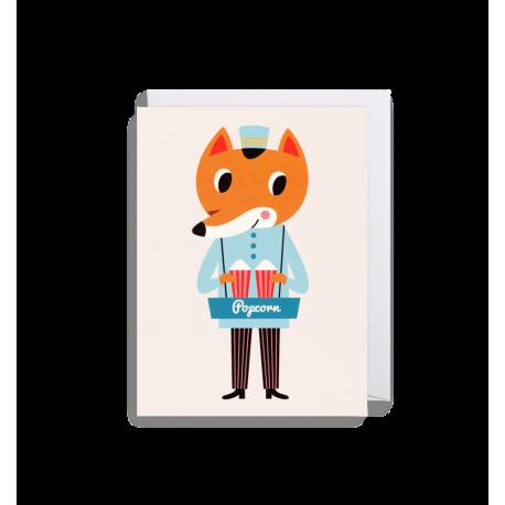 Foxy popcorn kort - Lille - Ingela P. Arrhenius